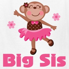 Cute Big Sister Ballerina Kids' Shirts