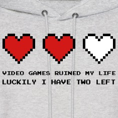 Video Games Ruined My Life Hoodies