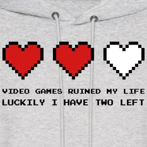 Video Games Ruined My Life Hoodies - Men's Hoodie