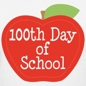 100th Day Of School (Apple) Women's T-Shirts - Women's T-Shirt