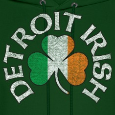 Detroit Irish Shamrock Apparel Hoodies