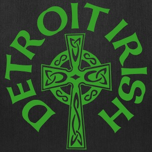Detroit Irish Celtic Cross Clothing Apparel Shirts Bags & backpacks - Tote Bag
