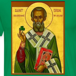 St Patrick Orthodox Icon Men's - Men's Premium T-Shirt