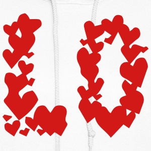 LOVE couple pair partner Heart Valentines Day gift Hoodies - Women's Hoodie