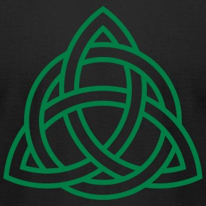 Celtic Knot Triquetra Trinity Irish Patricks Day   T-Shirts - Men's T-Shirt by American Apparel