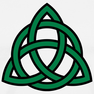 Irish Trinity Knot Triquetra Celtic Patricks Day T-Shirts - Men's Premium T-Shirt