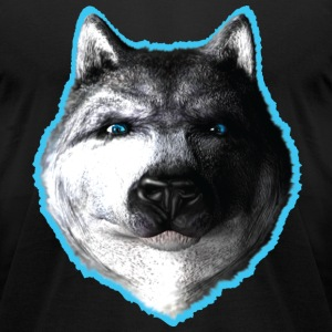 wolf blue eyes T-Shirts - Men's T-Shirt by American Apparel