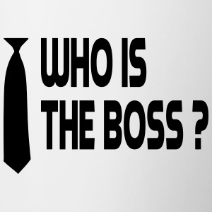 who is the boss Bottles & Mugs - Contrast Coffee Mug