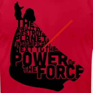 Darth Vader in quotes  T-Shirts - Men's T-Shirt by American Apparel