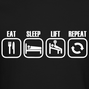 Eat Sleep Lift Repeat Long Sleeve Shirts - Crewneck Sweatshirt