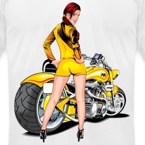 Motorcycle T-Shirts - Men's T-Shirt by American Apparel