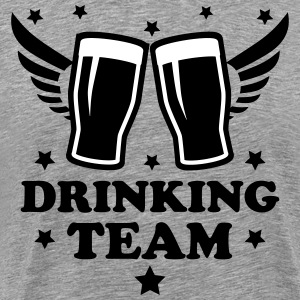 Drinking team Alcohol Beer drunk cool 2c Design me - Men's Premium T-Shirt