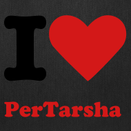 Design ~ I Love PerTarsha Tote Bag