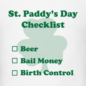 St. Paddy's Day Checklist - Men's T-Shirt