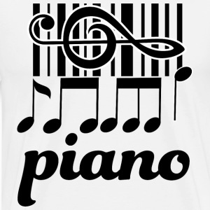Piano Music Keyboard T-Shirts - Men's Premium T-Shirt