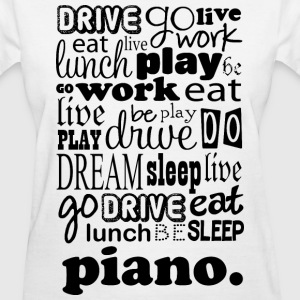 Piano Music Word Cloud Women's T-Shirts - Women's T-Shirt