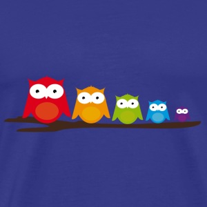 Five colorful owls T-Shirts - Men's Premium T-Shirt