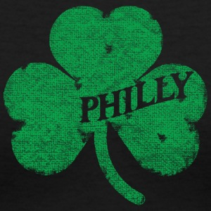 Philly Distressed Irish Shamrock Apparel Women's T-Shirts - Women's V-Neck T-Shirt