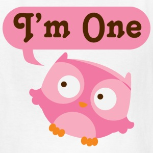 1st Birthday Baby Girl Owl Kids' Shirts - Kids' T-Shirt