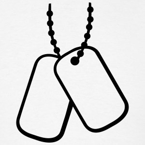 Dog Tags T-Shirts - Men's T-Shirt