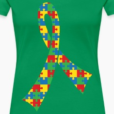 Autism Spectrum Puzzle Ribbon Women's T-Shirts