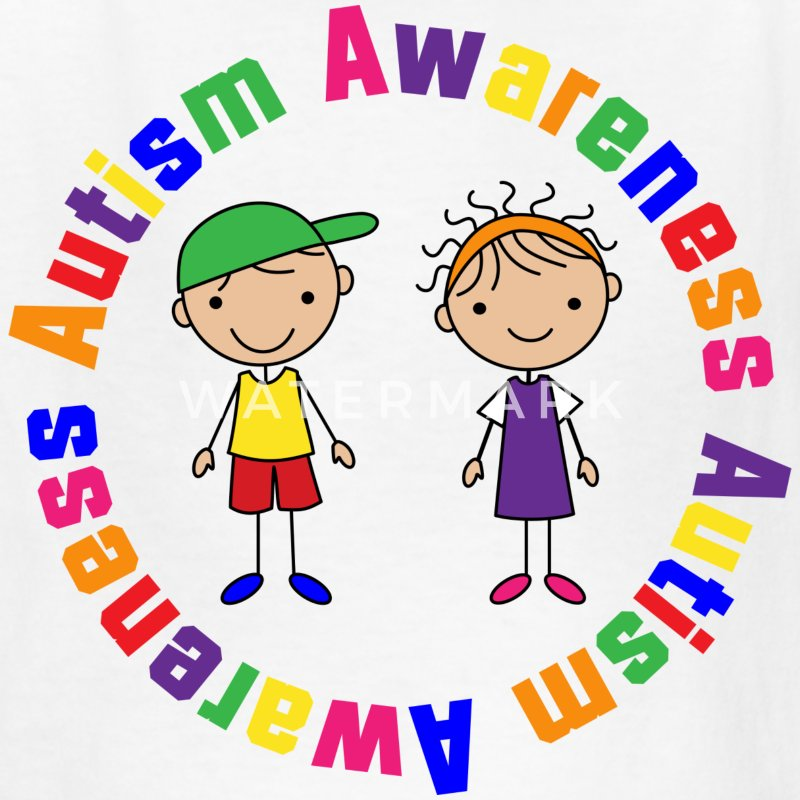 Autism Awareness Stick Figure Kids Kids' Shirts - Kids' T-Shirt