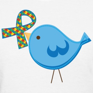 Autism Ribbon Awareness Bird Women's T-Shirts - Women's T-Shirt