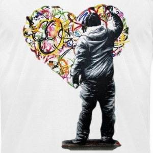 Graffiti Love - Men's T-Shirt by American Apparel