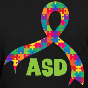ASD Autism Puzzle Ribbon Support Women's T-Shirts - Women's T-Shirt