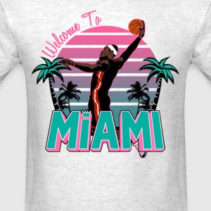 VICTRS Welcome to Miami Gray South Beach Shirt - Men's T-Shirt