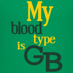 My Blood Type Is Green Bay Clothing Apparel Shirts Kids' Shirts - Kids' Premium T-Shirt