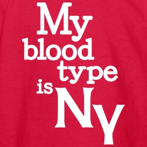 My Blood Type Is New York Clothing Apparel Shirts Kids' Shirts - Kids' Long Sleeve T-Shirt