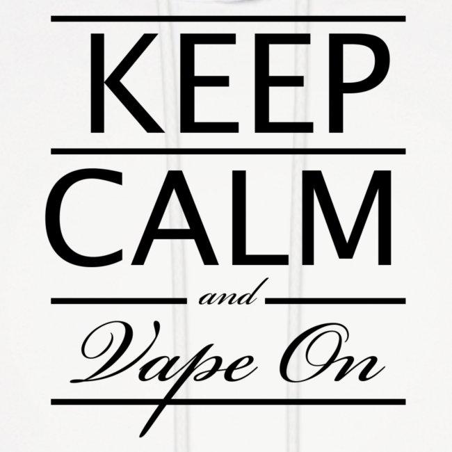 Keep Calm and Vape On - Blk Logo