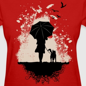 Girl walk the Dog Women's T-Shirts - Women's T-Shirt