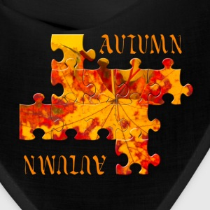 Autumn leaves puzzle Caps - Bandana