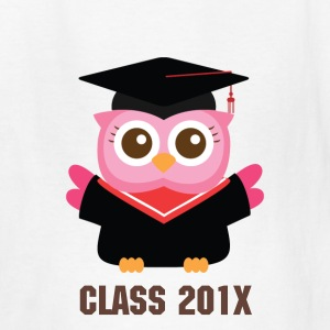 cute pink owl with graduate hat Kids' Shirts - Kids' T-Shirt