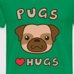 cute pug love hugs, for puppy lovers T-Shirts - Men's Premium T-Shirt