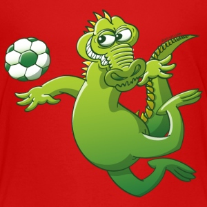 Crocodile Heading a Soccer Ball Baby & Toddler Shirts - Toddler Premium T-Shirt
