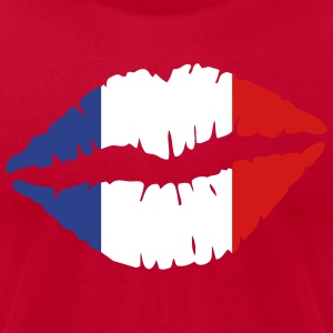 lips_flag T-Shirts - Men's T-Shirt by American Apparel
