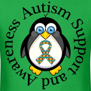 Autism Support Penguin T-Shirts - Men's T-Shirt