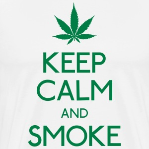 keep calm and smoke T-Shirts - Men's Premium T-Shirt