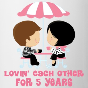 5th Anniversary French Couple Bottles & Mugs - Coffee/Tea Mug