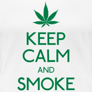 keep calm and smoke Women's T-Shirts - Women's Premium T-Shirt