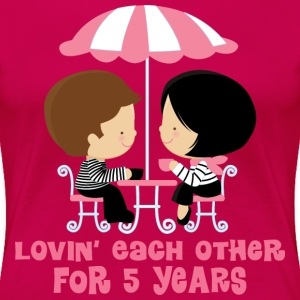 5th Anniversary French Couple Women's T-Shirts - Women's Premium T-Shirt