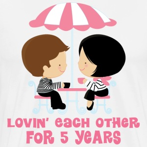 5th Anniversary French Couple T-Shirts - Men's Premium T-Shirt