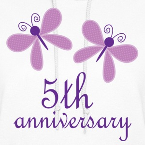 5th Anniversary Butterflies Hoodies - Women's Hoodie