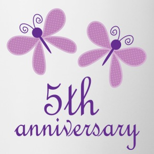 5th Anniversary Butterflies Bottles & Mugs - Coffee/Tea Mug