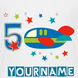 5th Birthday Airplane Kids' Shirts - Kids' Premium T-Shirt