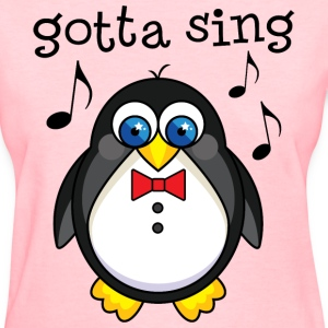 Singer Penguin Choir Music Women's T-Shirts - Women's T-Shirt