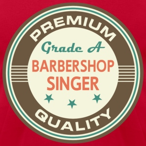 Barbershop Singer Vintage Logo T-Shirts - Men's T-Shirt by American Apparel